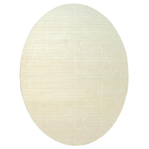 Cuff Link Oval Rugs-Ivory