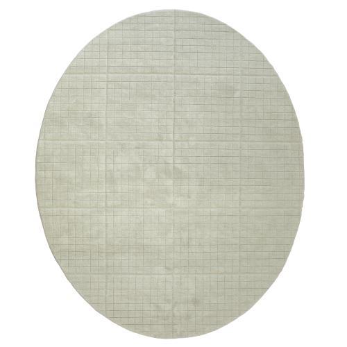 Cuff Link Oval Rugs-Light Grey