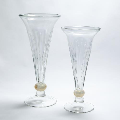 Trumpet Vase-Clear