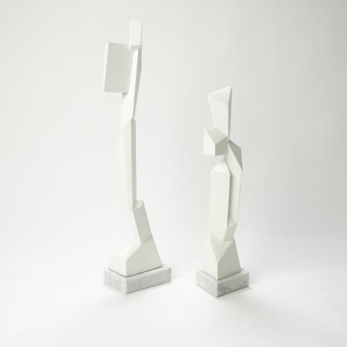Facet Sculptures-White