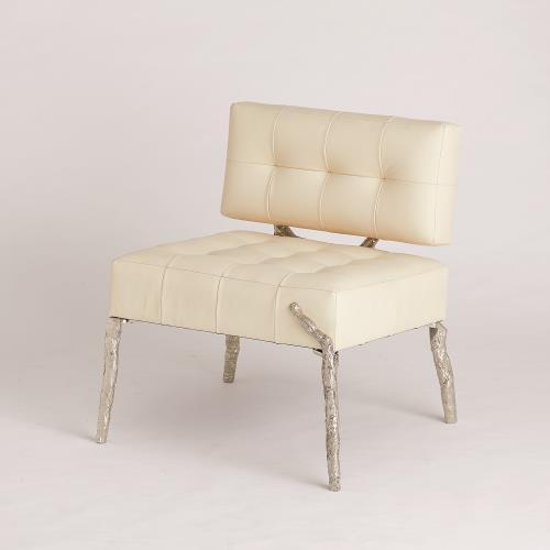 Bristol Branch Chair-Milk Leather