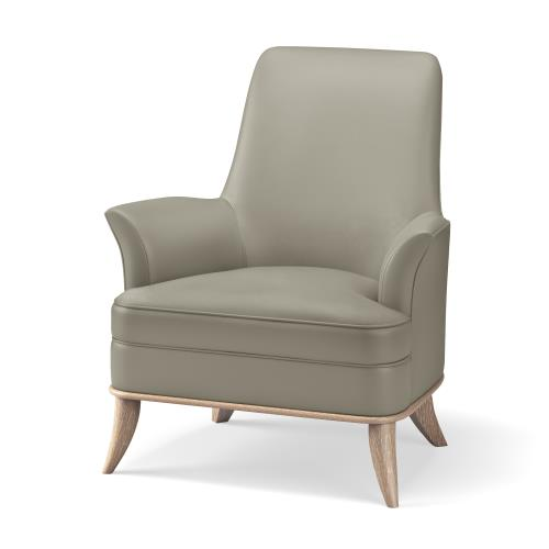 Jackie Chair-Grey-Chesterfield Grey Leather