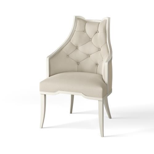 Logan Arm Chair-Antique White-COM