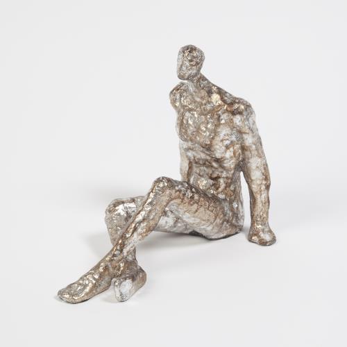 Sitting w/Legs Crossed-Silver Leaf