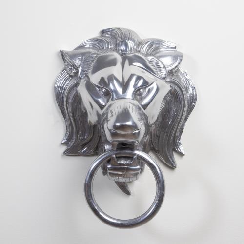 Lion Head Door Knocker-Nickel