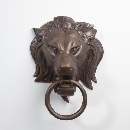 Lion Head Door Knocker-Antique Brass