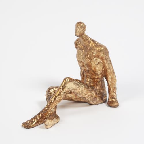 Sitting w/Legs Crossed-Gold Leaf