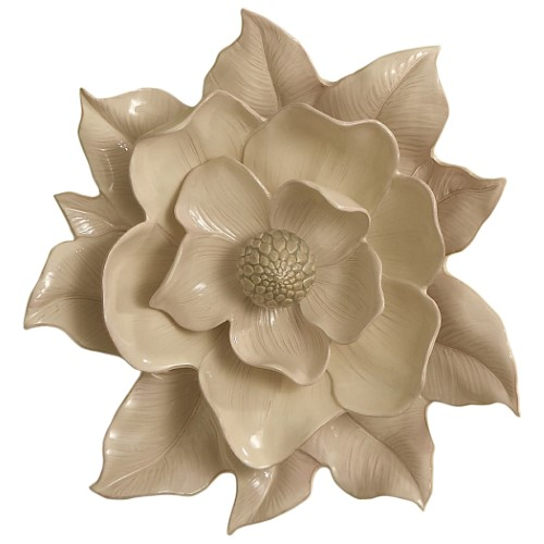 Magnolia Wall Flower-Ivory