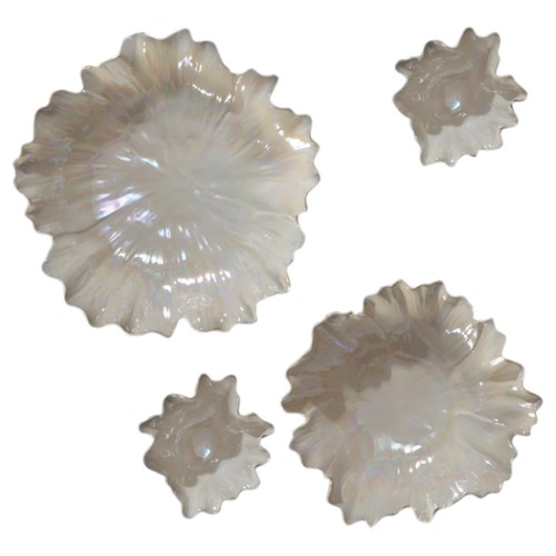 Carnation Platter/Bowl-Pearl Whitest