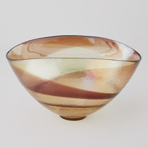 Golden Iridescent Lg Oval Bowl