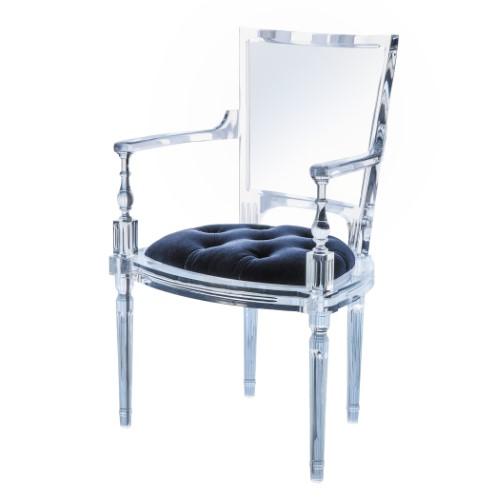 Marilyn Acrylic Arm Chair-Admiral Blue
