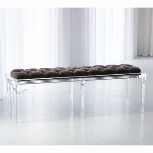Marilyn Acrylic 6 Leg Bench-Admiral Blue