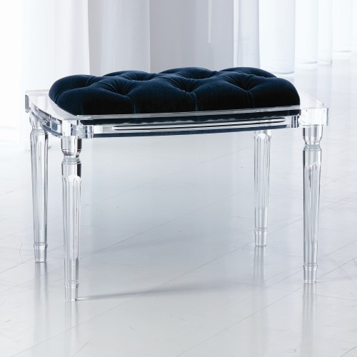 Marilyn Acrylic 4 Leg Bench-Admiral Blue