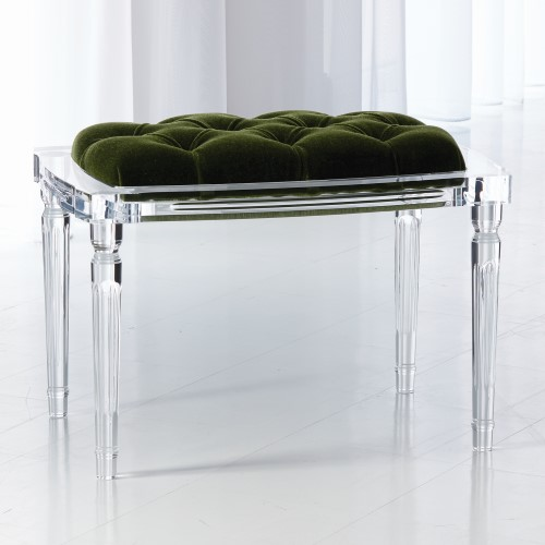 Marilyn Acrylic 4 Leg Bench-Emerald Green