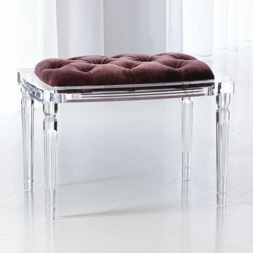 Marilyn Acrylic 4 Leg Bench-Lavender