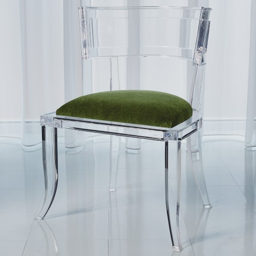 Klismos Acrylic Chair-Emerald Green