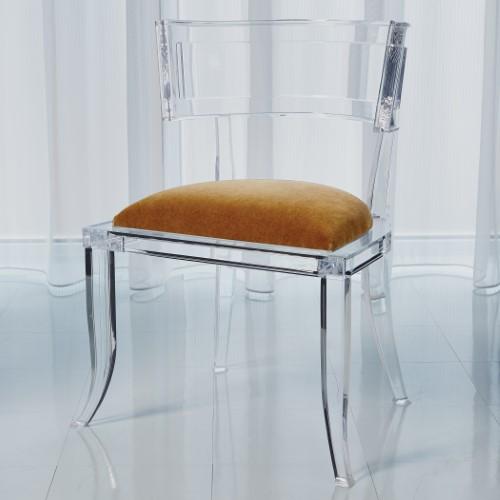 Klismos Acrylic Chair-Brown Sugar