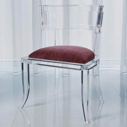 Klismos Acrylic Chair-Sultana