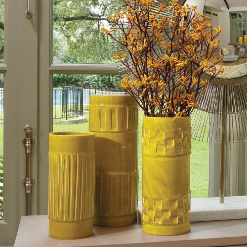 Global Views Products Modern Vase Ochre