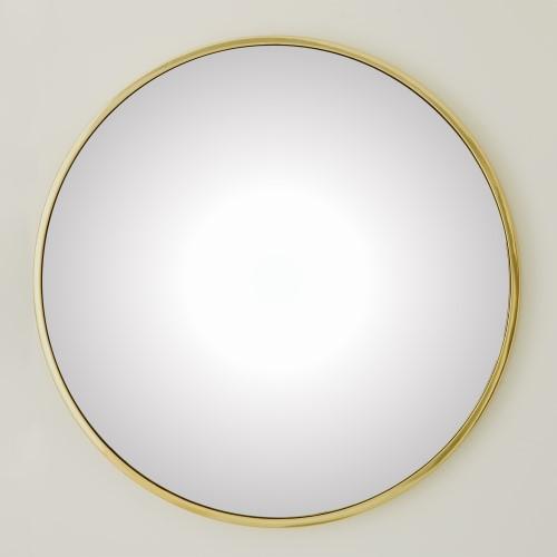 Hoop Flat Mirror - Brass