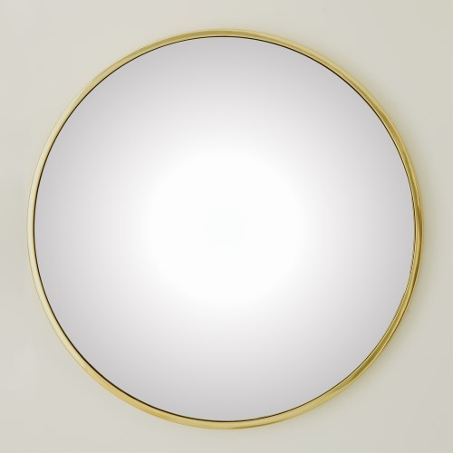 Hoop Convex Mirror-Brass