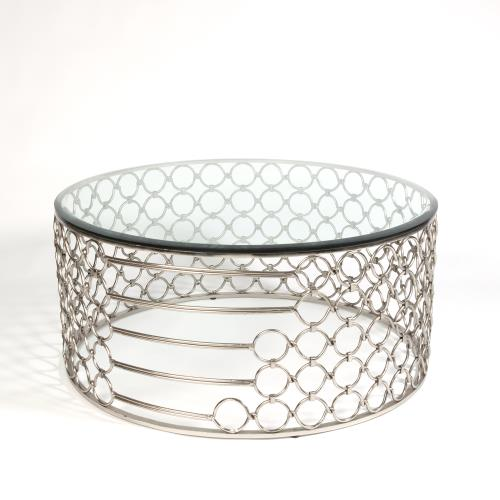Loop Cocktail Table-Silver