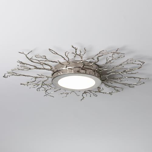 Twig Ceiling Fixture-Nickel