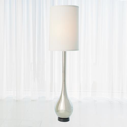 Bulb Floor Lamp-Nickel