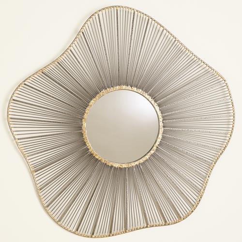 Sea Fan Wall Mirrors-Natural Iron
