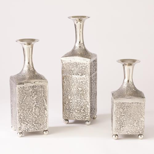 Aluminum Bottle Vase-Nickel