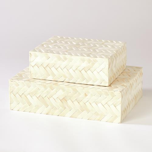 White Bone Braided Boxes