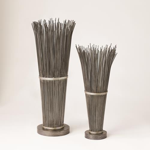 Wire Vases-Natural Iron