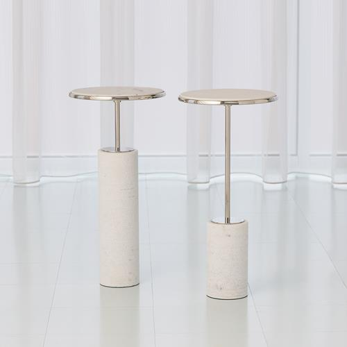 Cored Marble Tables-Nickel