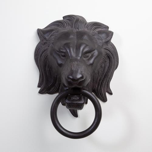 Lion Head Door Knocker-Bronze