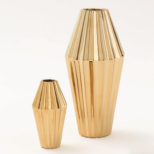 Milos Vase-Gold
