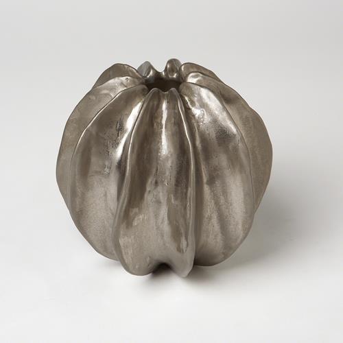Sea Star Vase-Matte Silver
