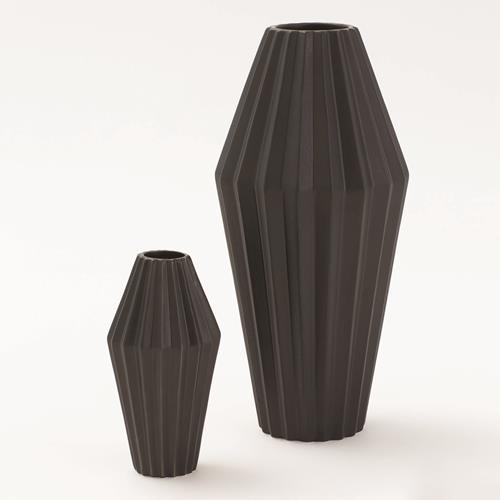 Milos Vase-Matte Black