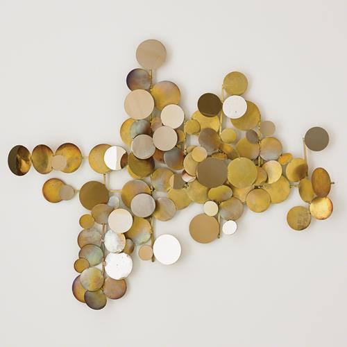 Dot Wall Decor-Brass/Gold