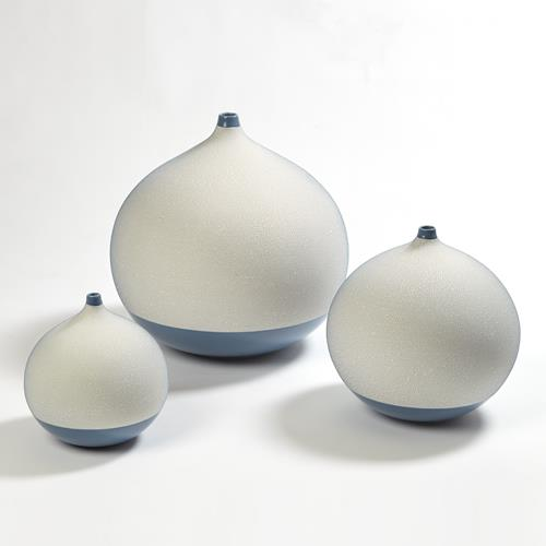 Pixelated Ball Vase - Blue
