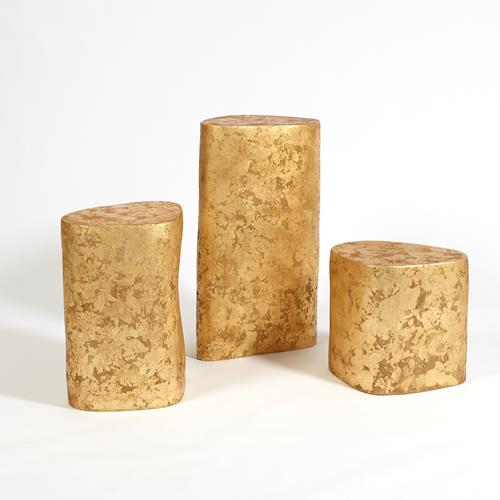 Organic Ceramic Pedestal-Gold Leaf
