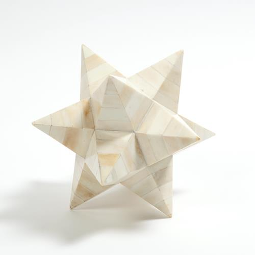 Stellated Dodecahedron-White Bone