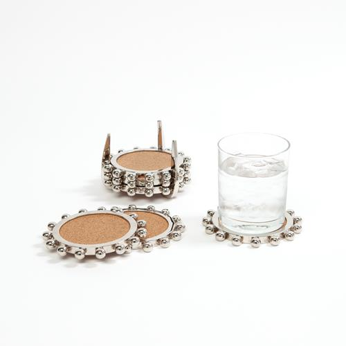 Starburst Crown Coasters-Nickel