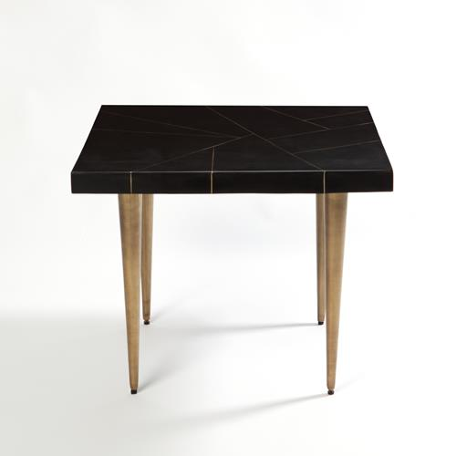 Hepburn Bunching Table-Black/Brass Filet