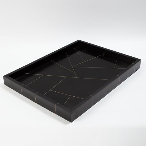 Hepburn Tray-Black/Brass Filet