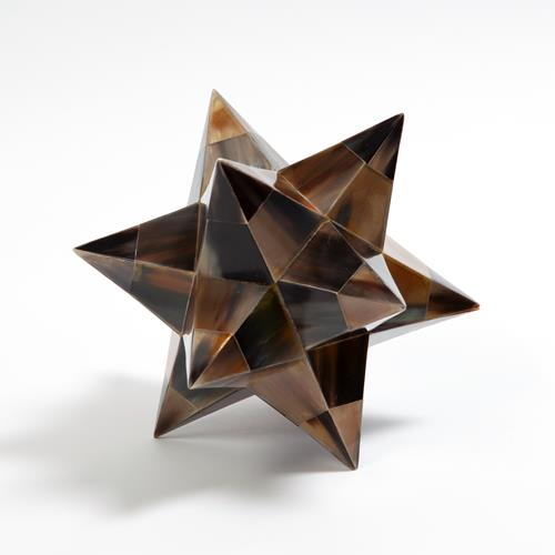 Stellated Dodecahedron-Brown Horn