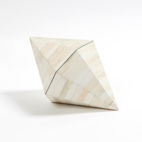 Triangle Cone Box-White Bone
