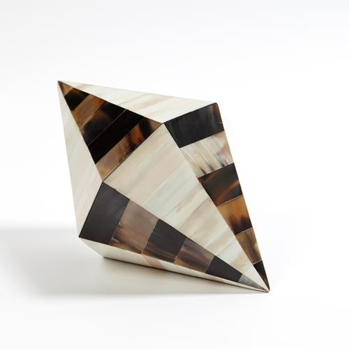 Triangle Cone Box-Brown Horn/White Bone