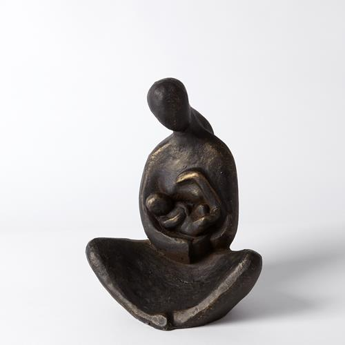 Seated Mother with Infant Sculpture-Bronze