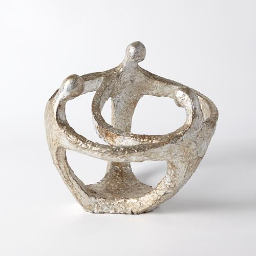 Circle of Family Sculpture-Silver Leaf