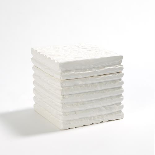 Carved Rennes Box-Matte White